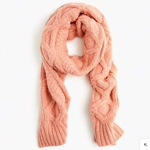 J Crew Loopy stitch oversized cable-knit scarf NEW
